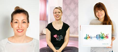 Fotografische Portraits der drei Protagonistinnen.