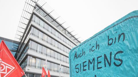 Proteste am Siemens-Standort Offenbach