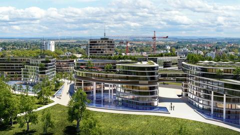 Entwurf des geplanten Gewerbeparks in Bad Vilbel
