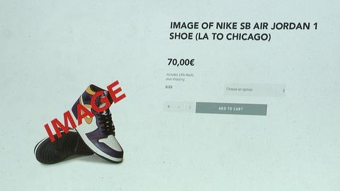 Sneakers Online-Angebot, Fotos kaufen