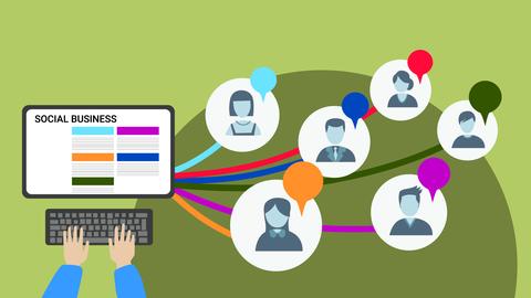 Die Grafik zeigt eine Webseite zum Thema Social Business der mit vielen Social Entrepreneurs verbunden ist.