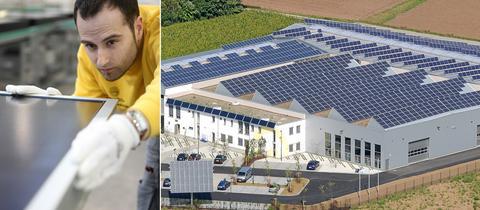 Hier werden Sonnenkollektoren produziert: Die Wagner Solar in Kirchhain.