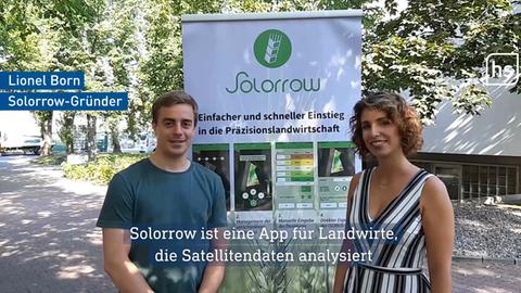 Solorrow-Gründer Lionel Born mit Produktmanagerin Laura Stephan