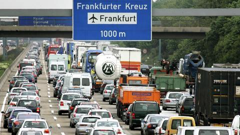 Stau am Frankfurter Kreuz
