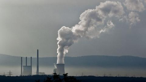 Kohlekraftwerk Staudinger aus der Ferne