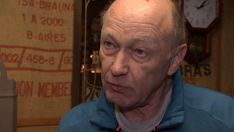 Klaus Hasenau, Anwohner des Steinbruchs