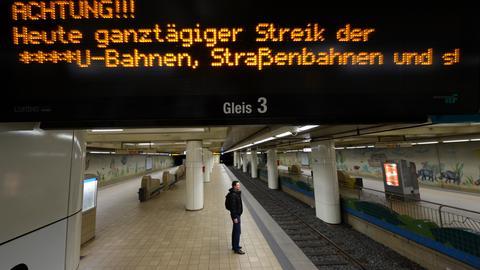 Streik U-Bahn Frankfurt