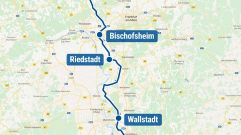 """Planung der Stromtrasse """"Ultranet"""" durch Hessen"""