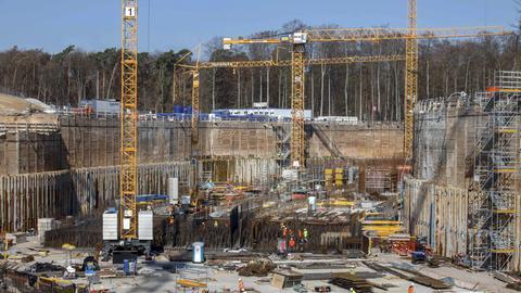 Baustelle des Fair-Teilchenbeschleunigers