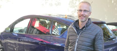 Torsten Schröder und sein Firmenauto