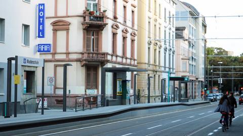 U5-Haltestelle Musterschule in Frankfurt