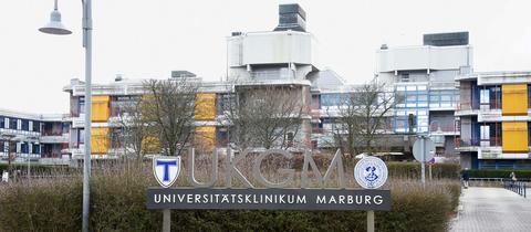 Die Universitätsklinik auf den Marburger Lahnbergen.