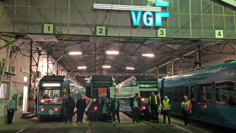 Bestreiktes U-Bahn-Depot in Frankfurt