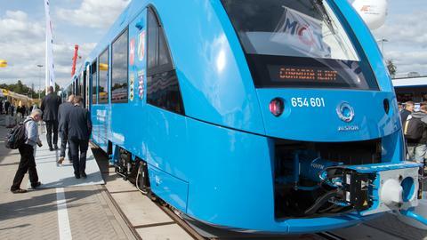 Wasserstoff-Zug auf der InnoTrans in Berlin
