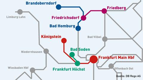 Die ersten Strecken für den Wasserstoffzug