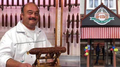 Metzgermeister Karlheinz Wilke aus Körle ist stolz auf seine Wurstwaren