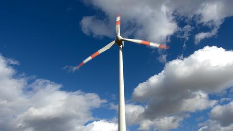 Rotorenblätter eines Windrads