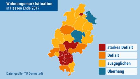 Wohnungsmarktsituation in Hessen im Jahr 2017