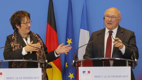 Zypries und Sapin in Paris
